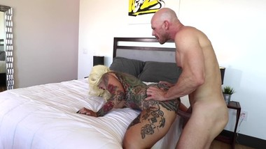 Johnny Sins Fucks Tatted Up Blonde