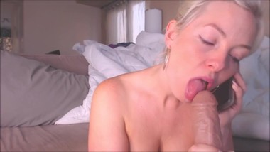 Sexy mom fuck son and talking on the phone