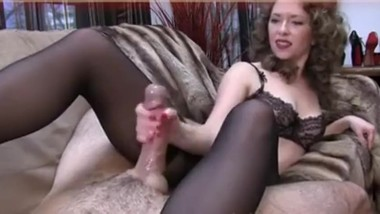 Mistress stroking HUGE COCK until HUGE CUMSHOT