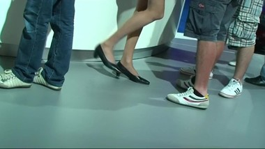 candid nylon pantyhose Shoeplay