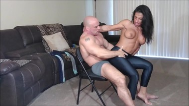 Edging lap dances with creampie reward