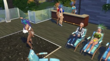 Ultra sexy sims 4 big boob mardi gra party