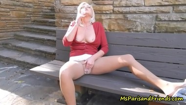 Smoking Pantyhose Orgasms in the Park