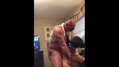 Daddy Dps my big pussy with his cock and big dildo