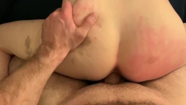 Fucking my bruised slave from behind