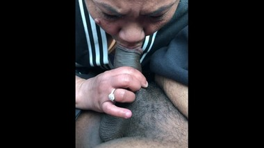 ASIAN MILF SUCKS DICK OUTSIDE CHURCH LET OUT