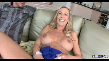Super Hot Blonde Cougar goes young