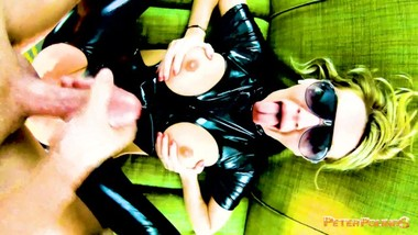 BLONDE MILF in LATEX get POUNDED on DOM POV!