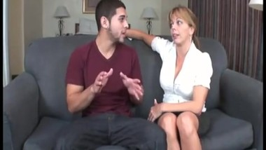 Mom catching son jerking off