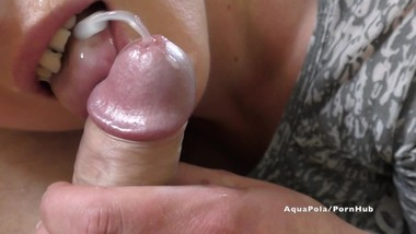Rimming and blowJob at morning cum in my mouth in slow-motion