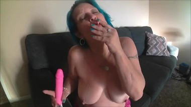 SMOKING GIRLFRIEND, MASTURBATES DIRTY TALK, MILF