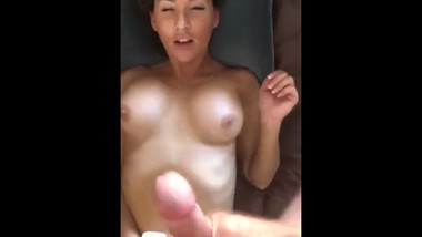 Milf gets a quick facial. Asks for more