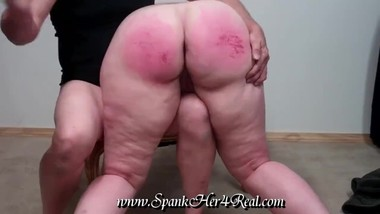 BBW Mary receives spanking and sex training from older daddy.