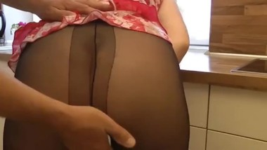 French son fuck his stepmom in the kitchen