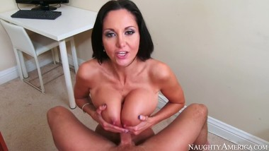 Naughty America - Find Your Fantasy - Ava Addams titty fucks to completion