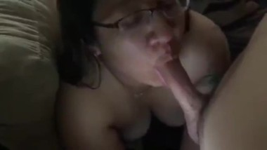 My friends sexy latina Mom giving me some head