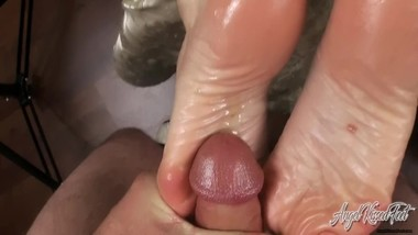 Nikki Ashton - 30 Loads Of Cum On My Feet - POV Footjob Compilation