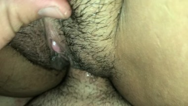 Her Hairy Spanish Pussy Gets So Wet
