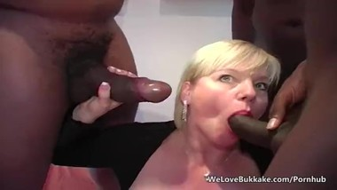 SINDASHDI´s Dutch MILF Donna X BBC Bukkake CUM Party
