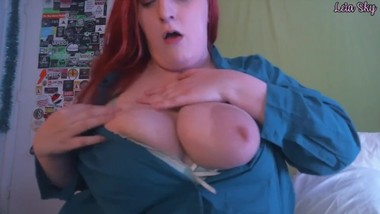 Cum on StepMommy's Huge Tits JOI