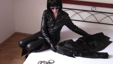 Mistress after handjob with satin lining