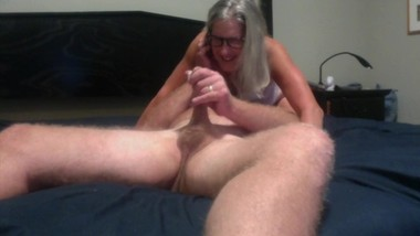 Hot MILG Gives Hubby Blowjob With Cumshot Mature Granny 60 Year Old
