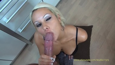 Hot Blonde Takes A Huge Load