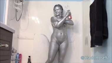 Silver Body Paint Shower