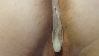fucked a bitch and finished in a condom
