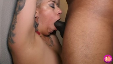 Sloppy Wet Throat Gagging Fuck by Thick Black Cock