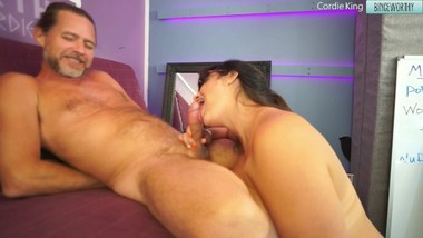 Post Orgasm Torture after Blowjob from Cordie King