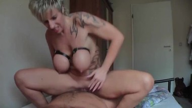 big tits german milf gets fucked und creamed