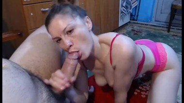 Perfect blowjob by hot milf