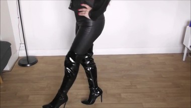 High boots fetish