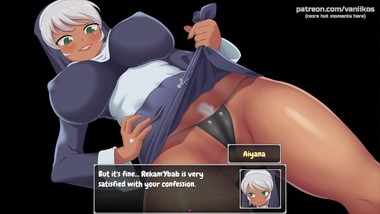 Hot nun showing her pussy My sexiest gameplay moments School of Lust #5