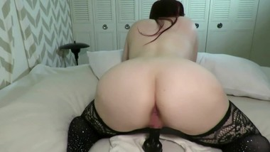Curvy MILF Sucks and Fucks BBC