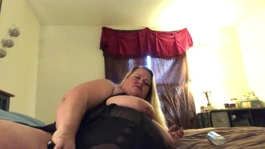 Mommy plays with herself and talks dirty to her stepson
