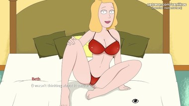 Stepmom Beth got big tits, sexy ass - Rick and Morty: A Way Back Home - #3