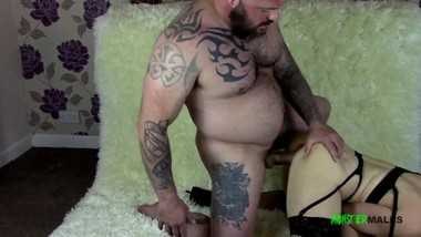 Big dick bearded tattooed Daddy Seth Strong fucks Milf Lucy Love hard!