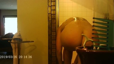 Hidden Camera Spying on a Milf in the Shower