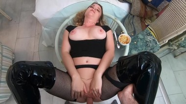 Stepmom sucks and fucks you for breakfast - Erin Electra