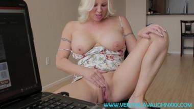 TABOO POV - Sexy Blonde Step-Mom Catches You Watching Porn!