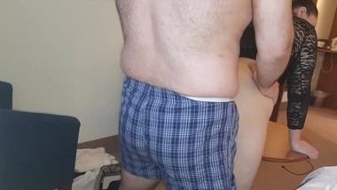 Step Mom fuck Step Son morning in the hotel room