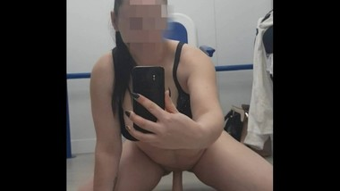 Step Mom gets caught masturbating in public pool changing room part. 1