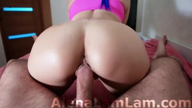 Young MILF Blowjob and Big Booty Riding on Cock BF!