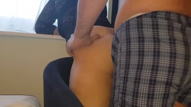Hot step mom get fucked at the hotel's window