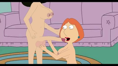 Lois suck Bonnie's huge dick Family guy porn video