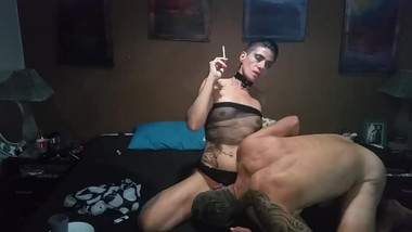 Sexy Smoking Video with Cleo Rimming and Sucking Cock plus Good Fuck