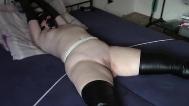 My amateur bondage, July 26, 2018: Hairy and smooth pussy