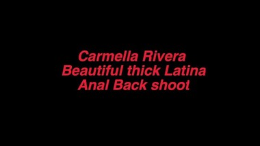 Beautiful Latina Carmella Rivera loves it from the back throwing it back